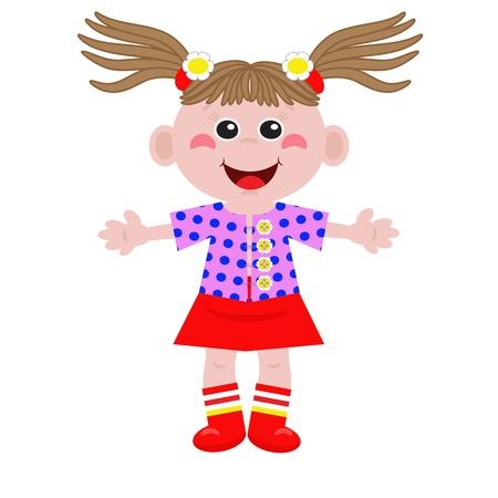 little girl dress: Funny little girl