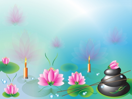 wellness environment: Spa background Illustration