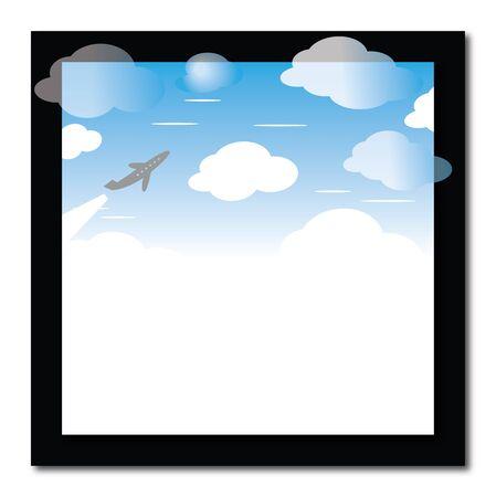 Frame with sky Иллюстрация