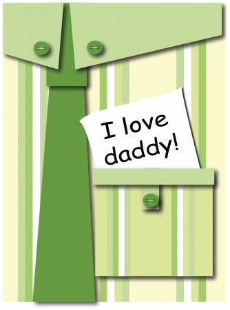 striped shirt: Father s day greeting card Illustration