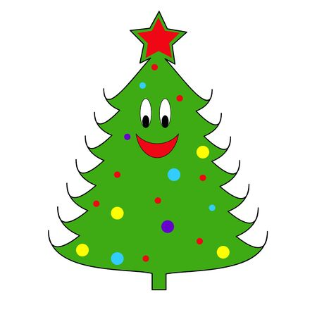 star clipart: Christmas tree