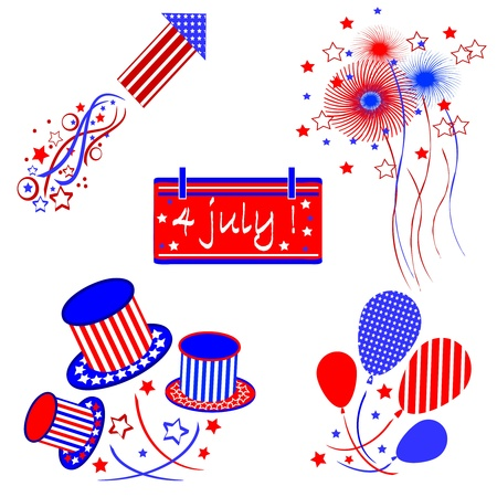 Independence day ,set  Vector