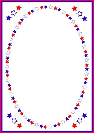 patriotic border: Independence day , frame Illustration