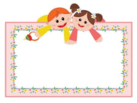 Children frame Illustration