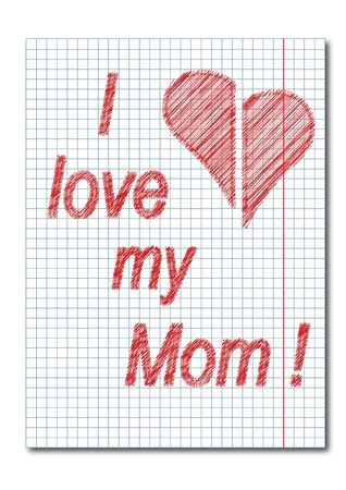 Mom day card Vector