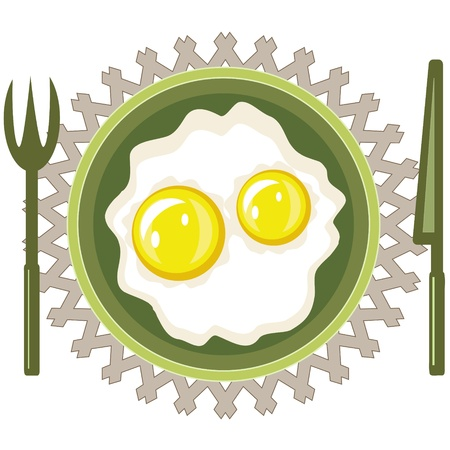 Scrambled eggs Stock Vector - 20681459