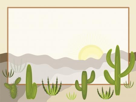 western border: Desert  , frame