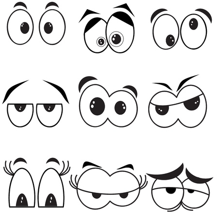 ojos caricatura: Ojos, conjunto