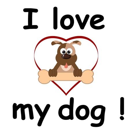 dog eating: I love my dog