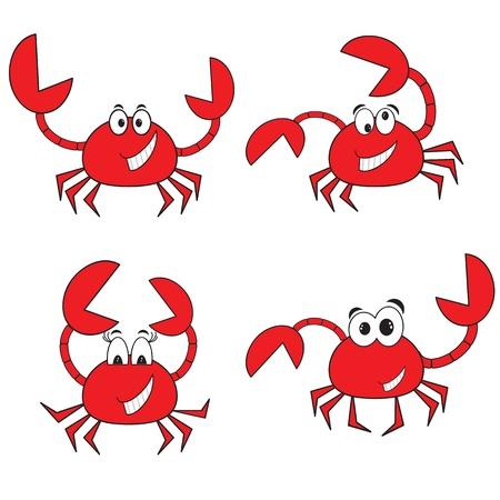 Crabs set Vector