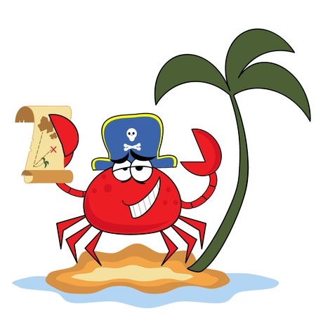 Crab pirate Vector