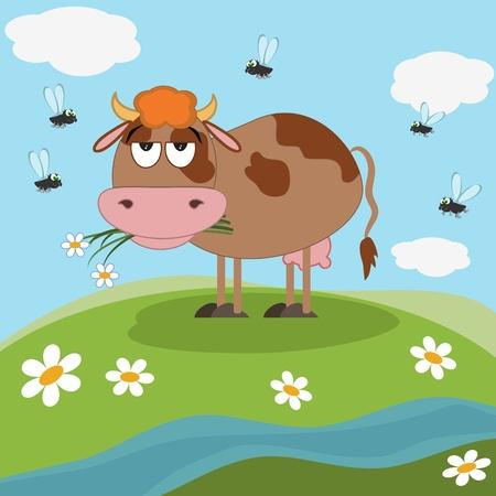 vaca caricatura: Dibujos animados de la vaca