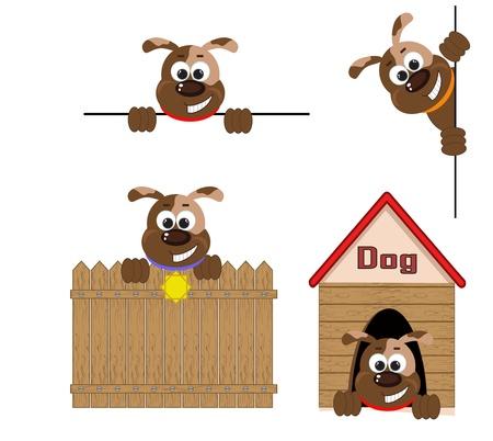 dog house: Dogs set  Illustration