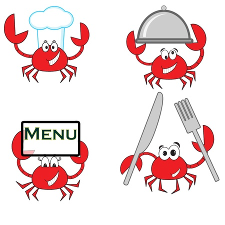Crab -cook, set  Vector