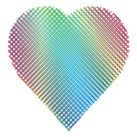 varicolored: Varicolored heart  Illustration