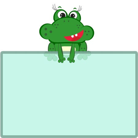 Frog with frame Vector