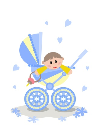 Baby in the carriage Vector