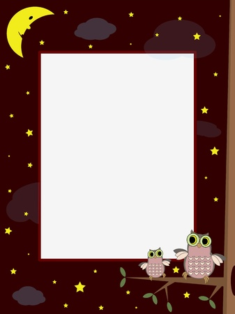 Night frame Vector