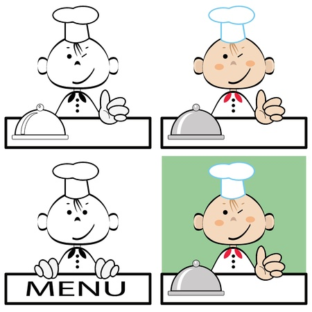 Cook,set  Vector