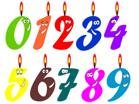 Birthday candles set  Vector