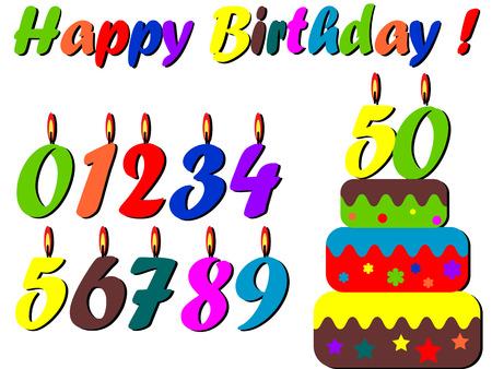 celebratory: Birthday set  Illustration