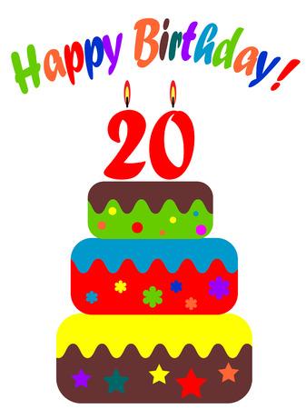 twentieth:  Birthday card, for twentieth anniversary
