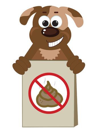 bag of soil: Stop Poop Sign