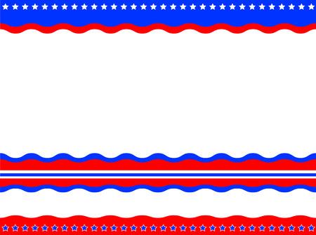national border: American patriotic background