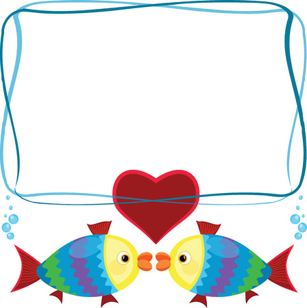 Frame with fish  Vector