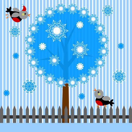 winter tree: Winter tree Illustration