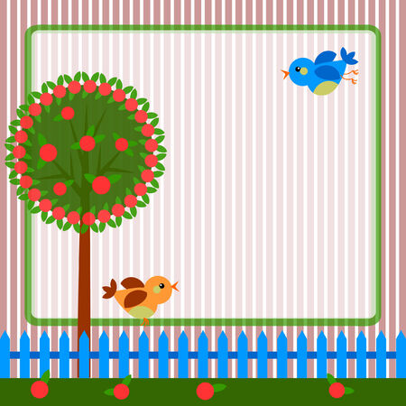 Frame with tree  Vector
