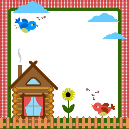 Frame with home Vector
