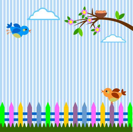 patchwork landscape: Spring background