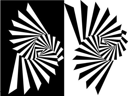 black в white: Striped black- white  background Illustration