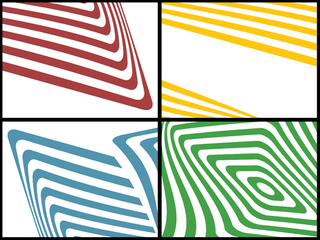 Set of the striped colourful  backgrounds  Vettoriali