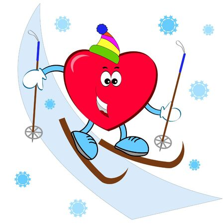 Heart on the skiing