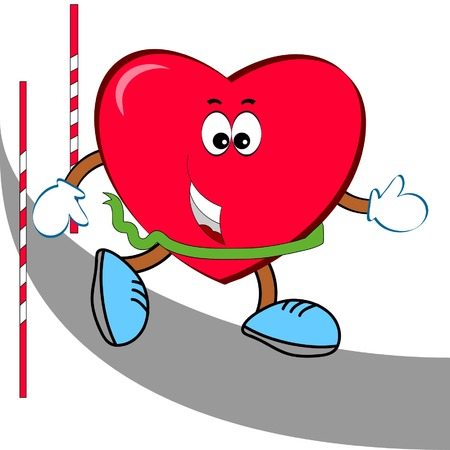 Heart- sportsman Vector
