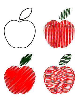 Apples icons.  Vector