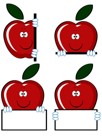 Red apples icons.