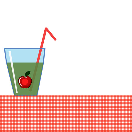 Background with glass of the juice