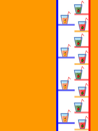 Background with glasses of the juice