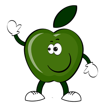 Green Apple cartoon.