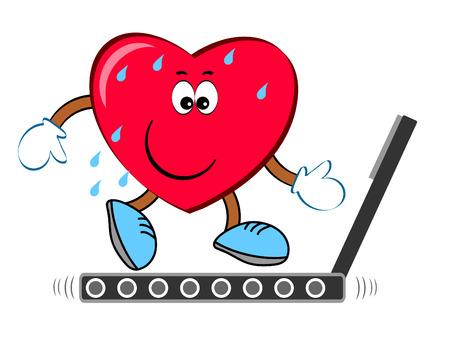 Heart on the treadmill