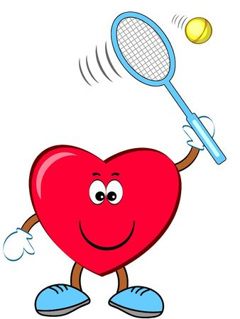 Heart sportsman tennis. Vettoriali