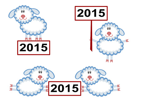 Christmas ,sheep. Vettoriali