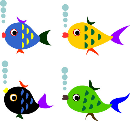 Varicolord fishes.