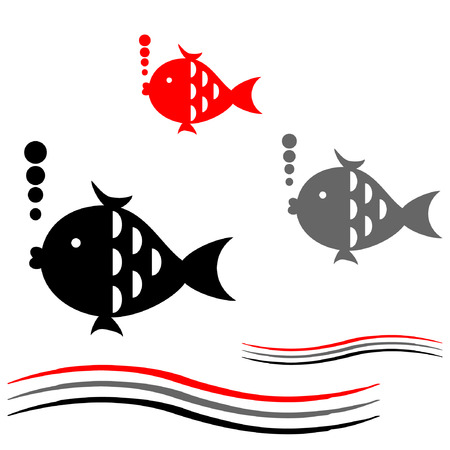 Background with fish. Vettoriali