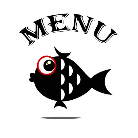Menu with fish Vettoriali