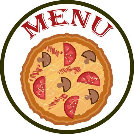 pizzeria label design: Menu pizza.