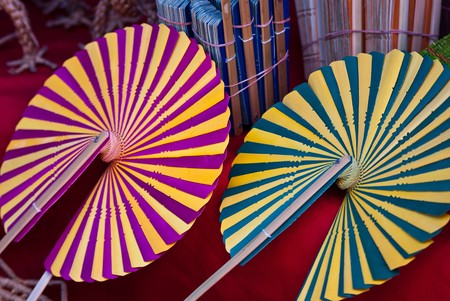Palm leaves fan, Thailand Stock Photo - 7540923